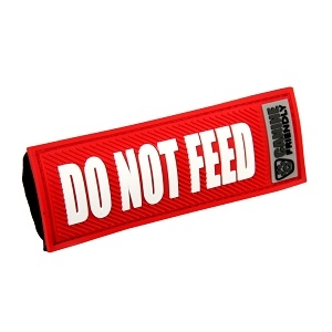 'Do Not Feed' Canine Friendly Bark Notes, Red