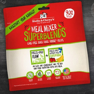 Cage Free Duck Duck Goose 3.25 oz. Superblends Meal Mixer for Dogs