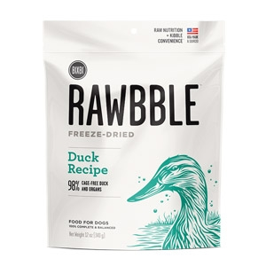 Rawbble™ 2 oz. Freeze Dried Duck Treats for Dogs
