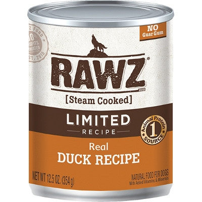 RAWZ Real Duck Limited Recipe Canned Dog Food