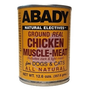 ABADY Natural Electives™ Ground Real Chicken Muscle-Meat for Dogs & Cats