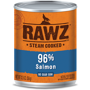 RAWZ Steam Cooked 96% Salmon Canned Dog Food