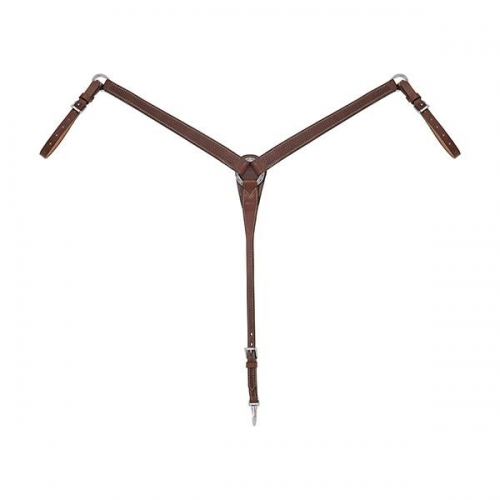 Basin Cowboy Tapered Brown Breast Collar