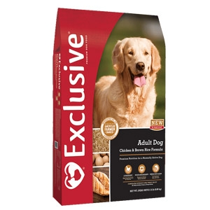 Exclusive® Chicken & Brown Rice Adult Dog Food