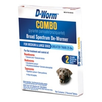 Farnam/Adams D-Worm™ Combo Broad Spectrum De-Wormer for Medium and Large Dogs