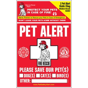 Pet Safety ALert Inc. Static Cling Window Decals