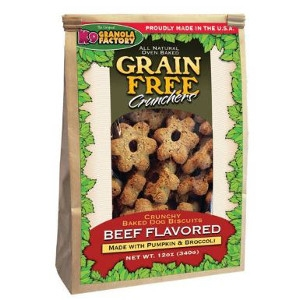 K9 Granola Factory Grain Free Crunchers Dried Beef with Pumpkin & Broccoli