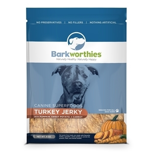 Barkworthies Turkey Jerky with Pumpkin, Sweet Potato & Carrot