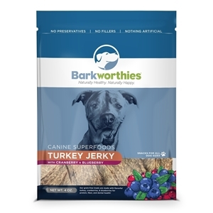 Barkworthies Jerky Treat with Cranberry and Blueberry
