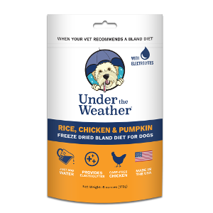 Under the Weather Freeze Dried Bland Diet-Rice, Chicken & Pumpkin for Dogs