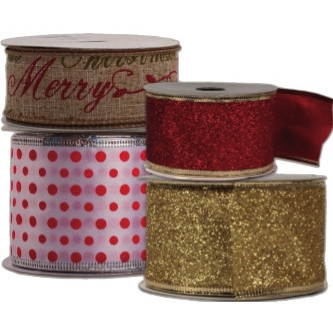 25% Off Christmas Ribbon by the Bolt