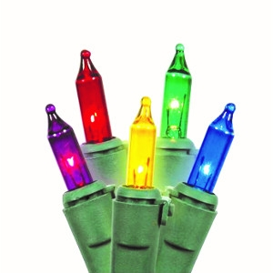 50 cnt. Mini lights set. Clear or multi color!