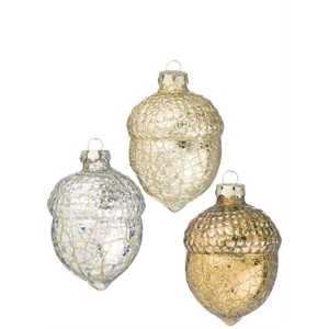 Gold Acorn Ornaments by Sullivan's Gifts