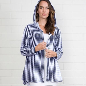Simply Noelle Stripe & Polka Dot Hooded Jacket