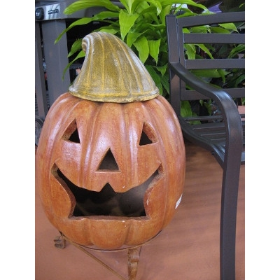 Jack-O-Lantern Chimenea by The Pottery Patch