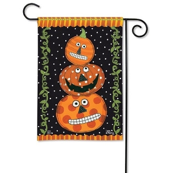 Pumpkin Faces Flag by Studio-M