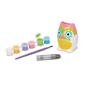 Decorate Your Own Owl Bank