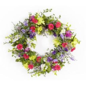 Mixed Floral Wreath by Melrose International