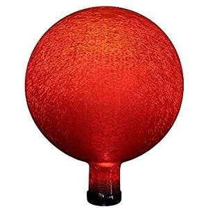 Dimpled Red Glass Globe