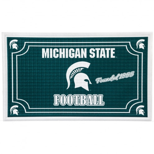 Michigan State Spartans Embossed Floor Mat