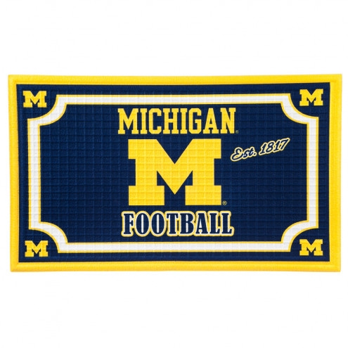 Michigan Wolverines Embossed Floor Mat