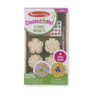 'Created by me' flower magnets craft