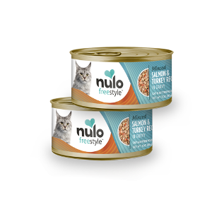 Nulo Freestyle Cat Grain Free Minced Salmon & Turkey in Gravy