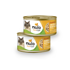 Nulo Freestyle Cat & Kitten Shredded Chicken and Duck in Gravy