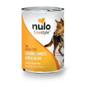 Nulo Freestyle Grain Free Chicken, Carrots & Peas Wet Food Recipe for Adult Dogs