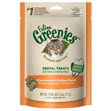 FELINE GREENIES™ Dental Treats Oven Roasted Chicken Flavor 5.5oz Pack