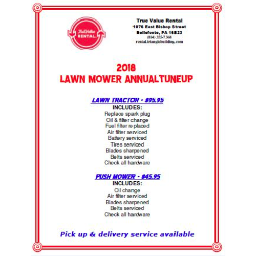 2018 Lawn Mower Annual Tuneup