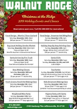 2019 Walnut Ridge Calendar of Holiday Events