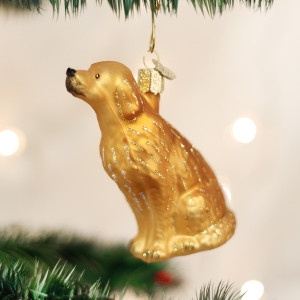 Sitting Golden Retriever Ornament