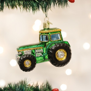 Green Tractor Ornament by Old World Christmas