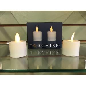 2pk Flameless Ivory Tea Lights by Torchiér™