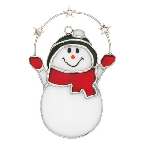 Glass Snowman with Stars Nightlight Cover