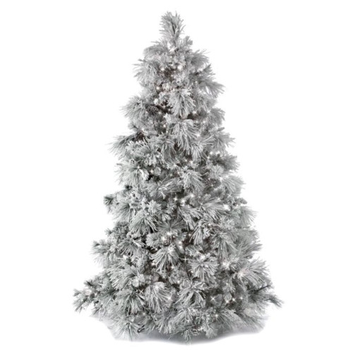 Flocked Bear Mountain Artificial Christmas Tree