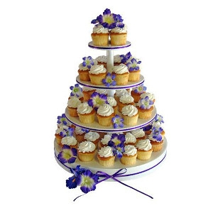 Boss Manufacturing Four-Tier Cupcake Stand