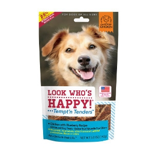 Look Who's Happy Tempt'n Tenders Chicken with Blueberry Dog Treats