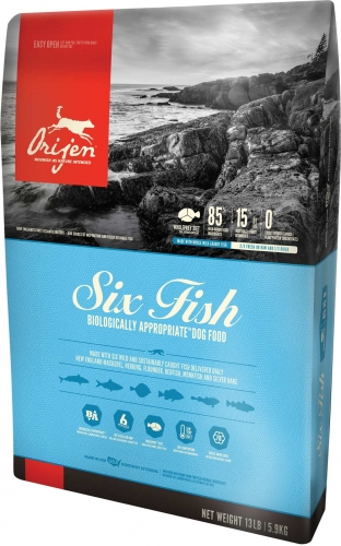 Orijen Adult Dog Six Fish Dry Formula