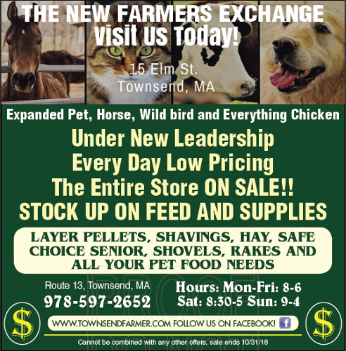 New & Exciting at Farmers' Exchange Townsend