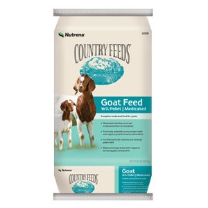 Nutrena Country Feeds 16% Pelleted Goat Feed - Medicated