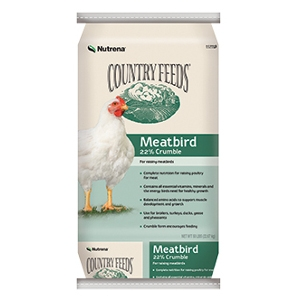 Nutrena Country Feeds Meatbird 22% Crumbles