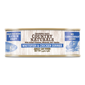 Grain Free Non-GMO Whitefish & Chicken Slices in Gravy