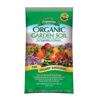 Espoma Organic Garden Soil For Vegetables & Flower 1 Cf