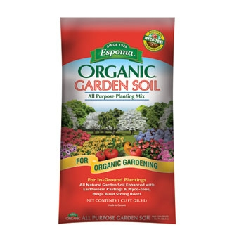 Espoma Organic Garden Soil All Purpose Planting Mix 1 Cf