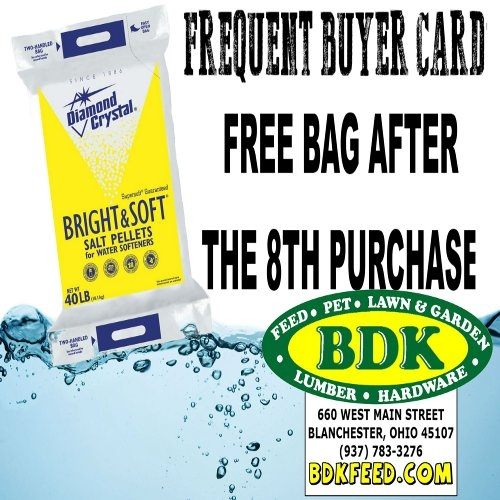Frequent Buyer Card Special on Salt Pellets