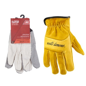 Ace and Wells Lamont Brand Work Gloves