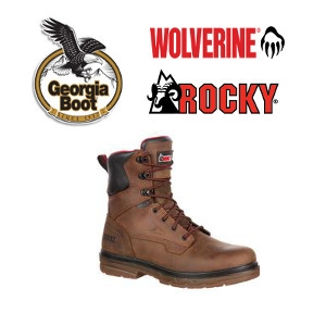 Wolverine, Rocky and Georgia Brand Work Boots