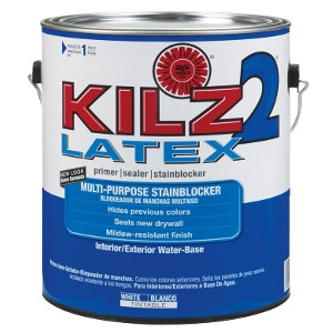 Kilz 2 Latex Water-Based Interior and Exterior Primer and Sealer 1 Gallon
